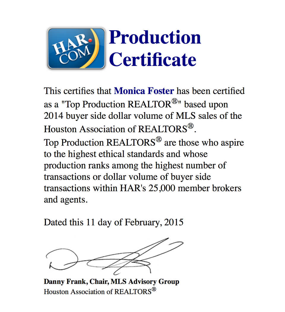 HAR Top Production 2014 Buyer Volume