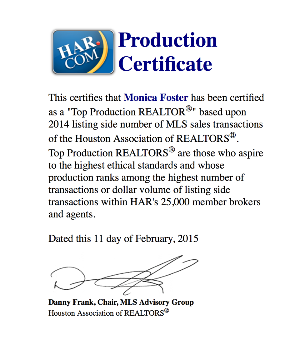 HAR Top Production 2014 Listing Sides