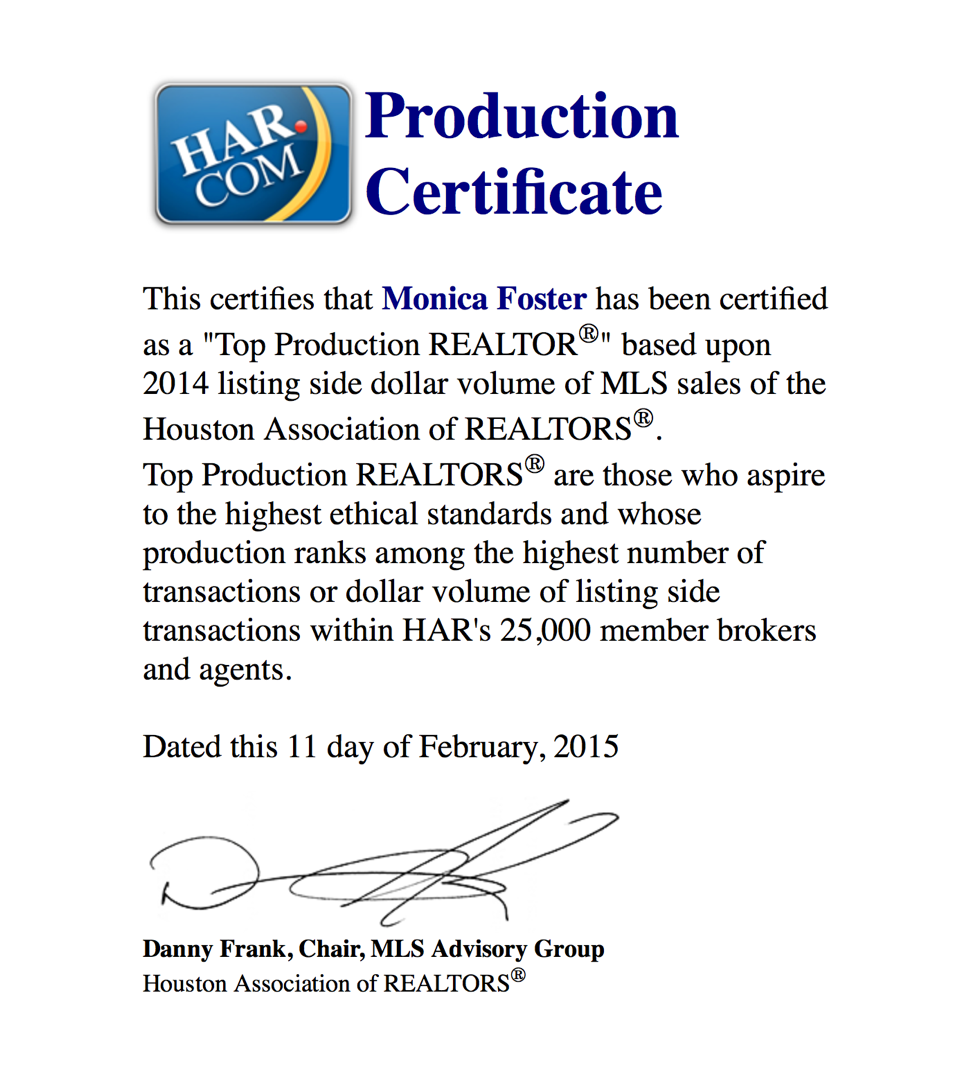HAR Top Production 2014 Listing Volume