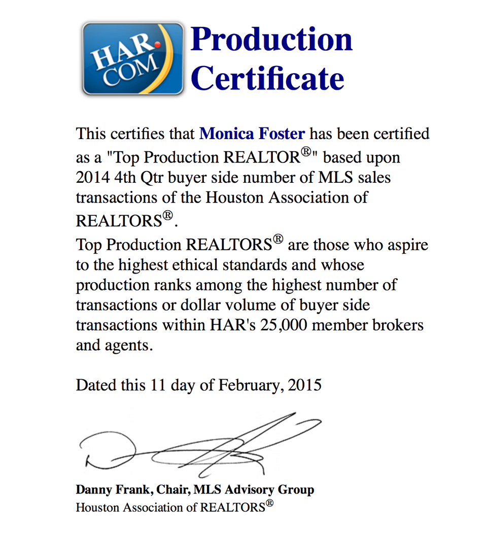 HAR Top Production 4th Qtr 2014 Buyer Sides